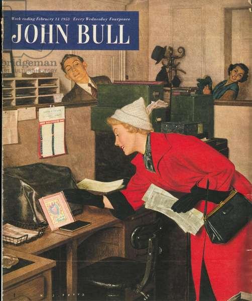 Front cover of 'John Bull', February 1953 (colour litho)