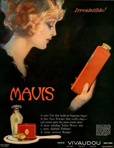 Mavis Magazine Advert, 1921 (colour litho)