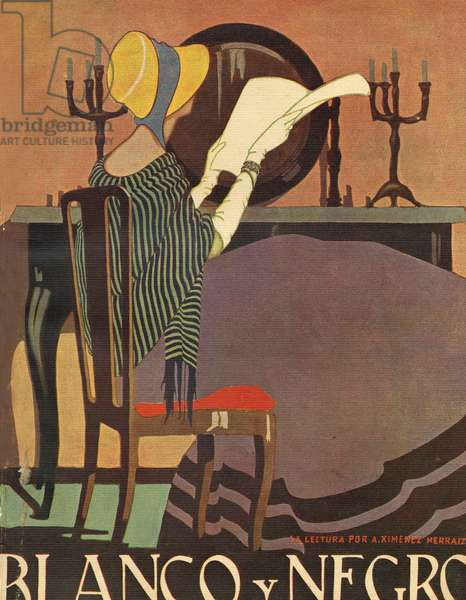 Front cover of 'Blanco y Negro', 1921 (colour litho)