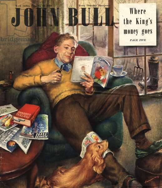 Front cover of 'John Bull', February 1948 (colour litho)