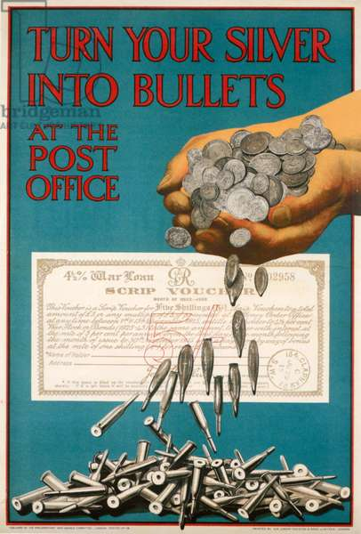 Post Office Poster, 1915 (colour litho)