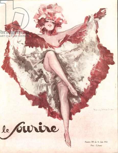 Front Cover of 'Le Sourire', June 1932 (colour litho)