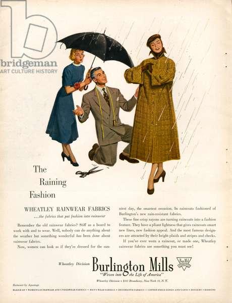 Burlington Mills magazine advert, 1940s (colour litho)