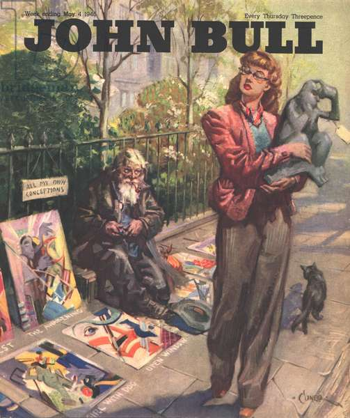 Front cover of 'John Bull', May 1946 (colour litho)