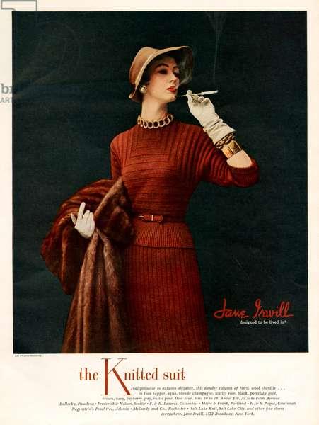 Jane Irwill Magazine Advert, 1950s (colour litho)