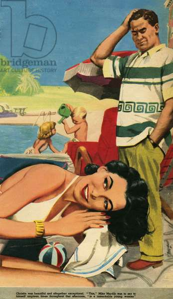 Illustration from 'Holiday', 1951 (colour litho)