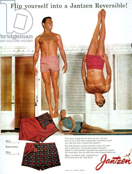 Jantzen Magazine Advert, 1956 (colour litho)