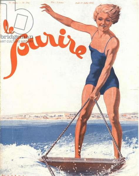 Front Cover of 'Le Sourire', July 1932 (colour litho)
