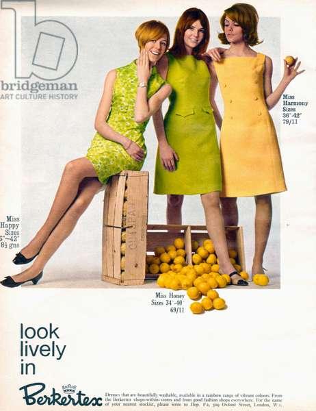 Berkertex Magazine Advert, 1960s (colour litho)