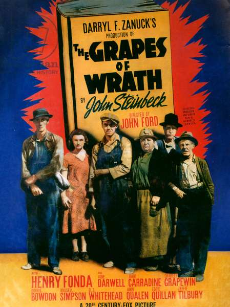 The Grapes of Wrath, Film Poster, 1940 (colour litho)