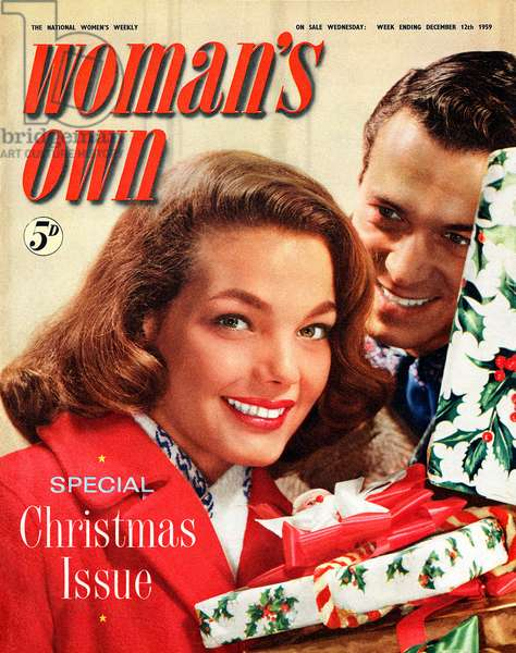 Cover of Woman's Own magazine, December 1959 (colour litho)
