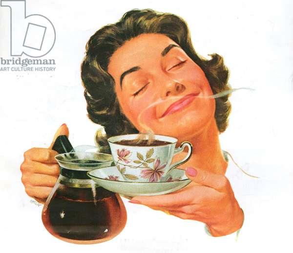 Coffee, Magazine Advert, 1960s (colour litho)