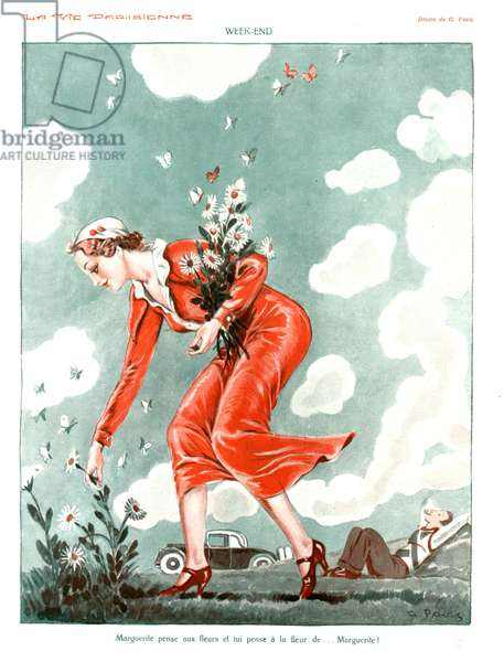 Week-End, illustration from 'La Vie Parisienne', 1920s (colour litho)