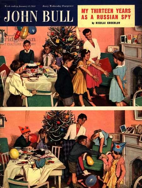 Front Cover of 'John Bull', January 1955 (colour litho)