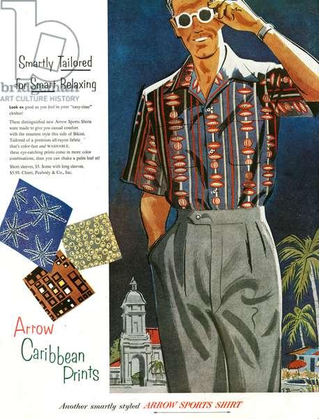 Arrow Magazine Advert, 1953 (colour litho)