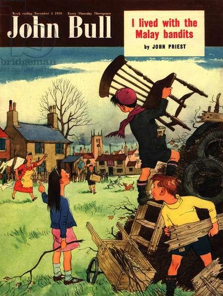Front Cover of 'John Bull', November 1950 (colour litho)