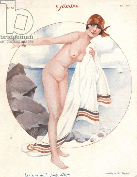 Front cover of 'Le Sourire', 1926 (colour litho)