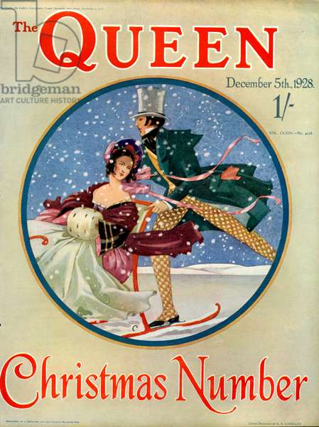 The Queen Magazine Cover, 1928 (colour litho)