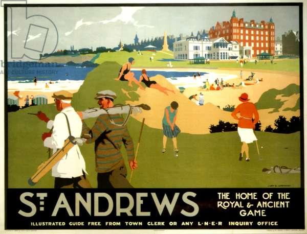 St. Andrews, 1930s (colour litho)