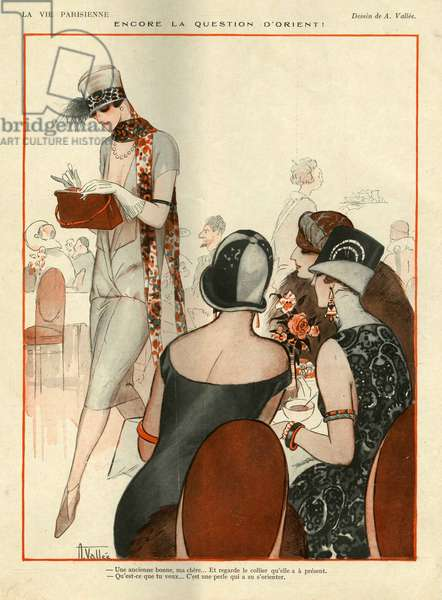 Illustration from La Vie Parisienne', 1924 (colour litho)