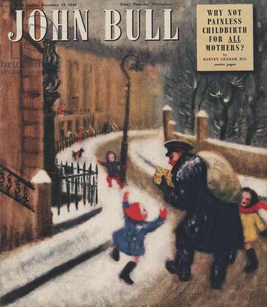 Front cover of 'John Bull', December 1948 (colour litho)