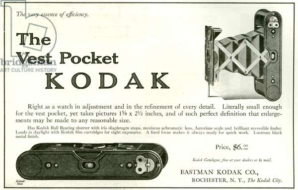 Kodak Magazine Advert, 1913 (litho)