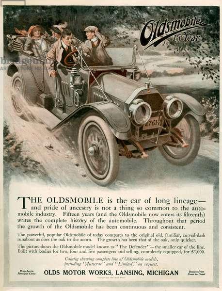 Oldsmobile Magazine Advert, 1910s (colour litho)