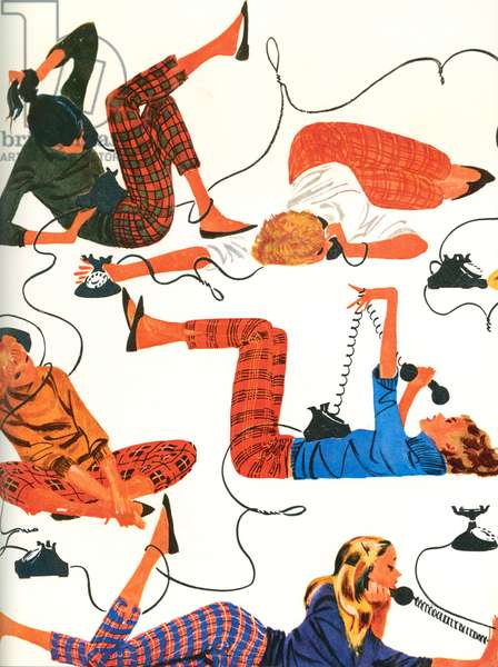 Telephones book plate, 1950s (colour litho)