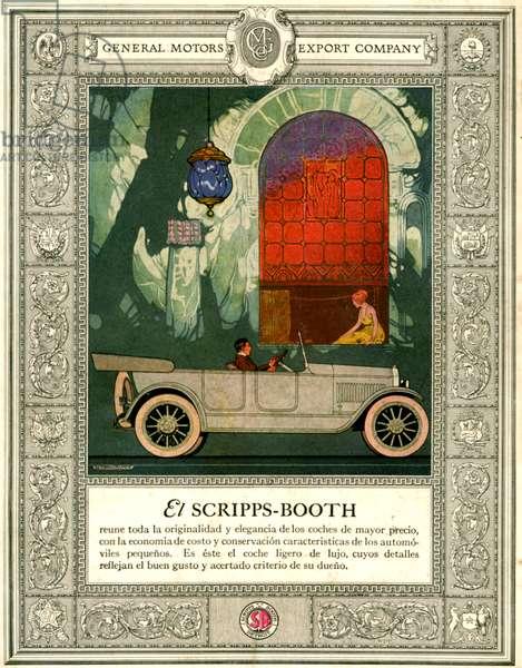 General Motors Magazine Advert, 1920s (colour litho)