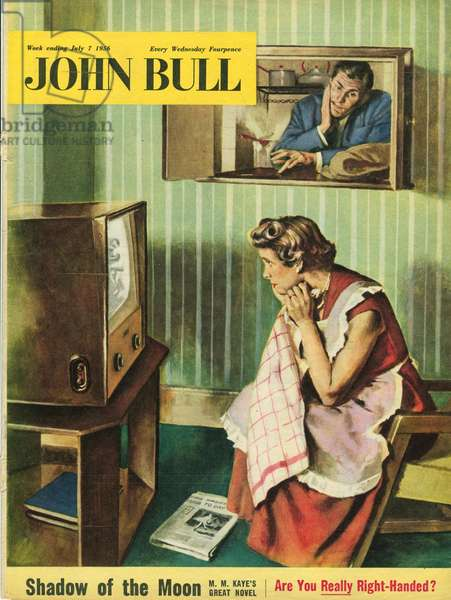 Front cover of 'John Bull', July 1956 (colour litho)