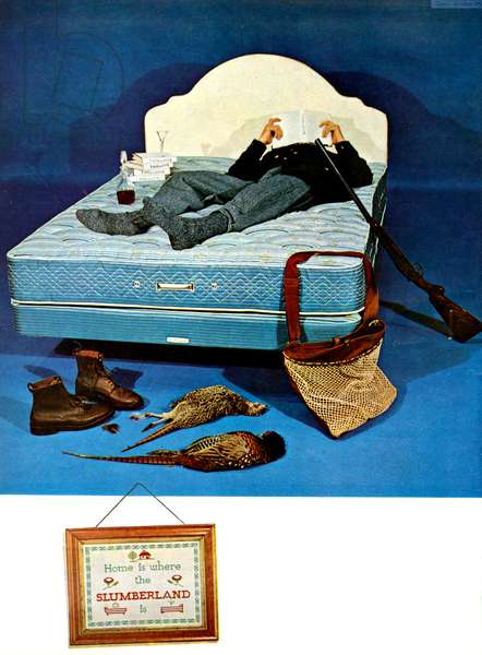 Slumberland Magazine Advert, 1960s (colour litho)