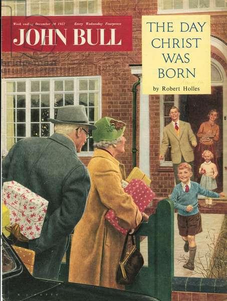 Front cover of 'John Bull', December 1957 (colour litho)