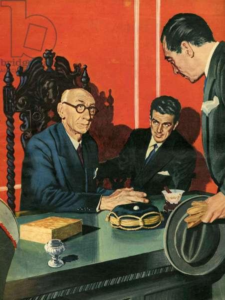 Illustration from 'John Bull', 1955 (colour litho)