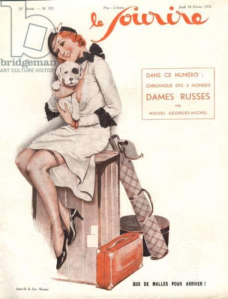 Front cover of 'Le Sourire', 1932 (colour litho)