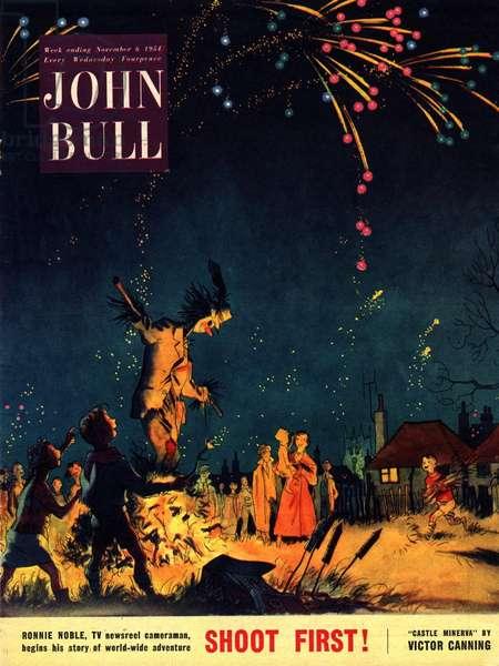 Front Cover of 'John Bull', November 1954 (colour litho)