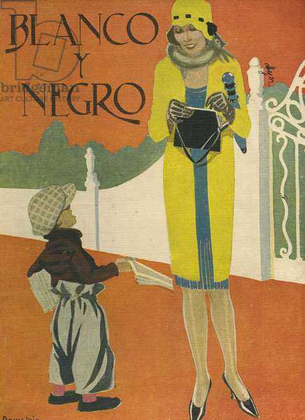 Front cover of 'Blanco y Negro', 1924 (colour litho)