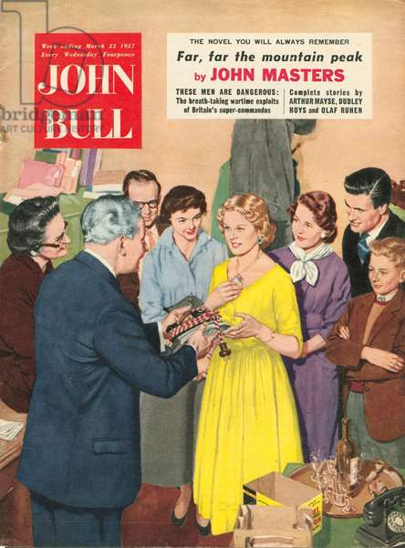 Front cover of 'John Bull', March 1957 (colour litho)