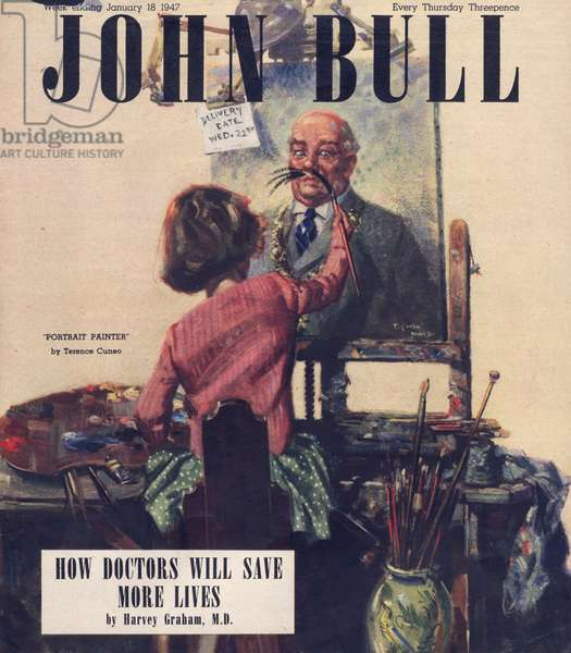 Front cover of 'John Bull', January 1947 (colour litho)