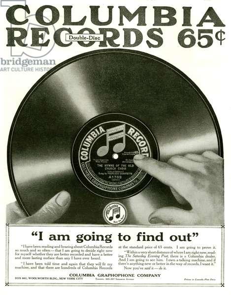 Columbia Magazine Advert, 1915 (litho)