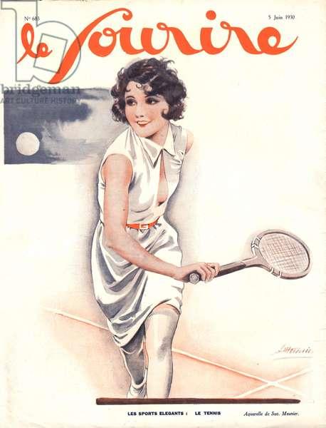 Front Cover of 'Le Sourire', June 1930 (colour litho)