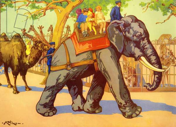 Illustration from a children's book, 1950s (colour litho)