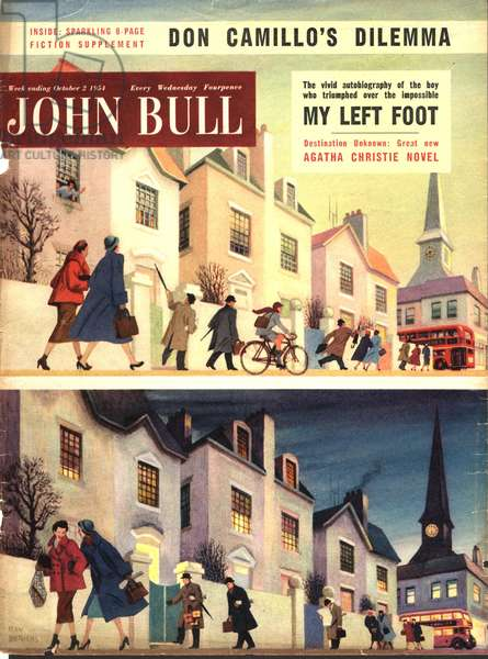 Front cover of'John Bull', October 1954 (colour litho)