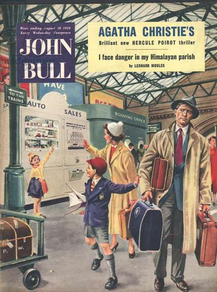 Front cover of 'John Bull', August 1956 (colour litho)