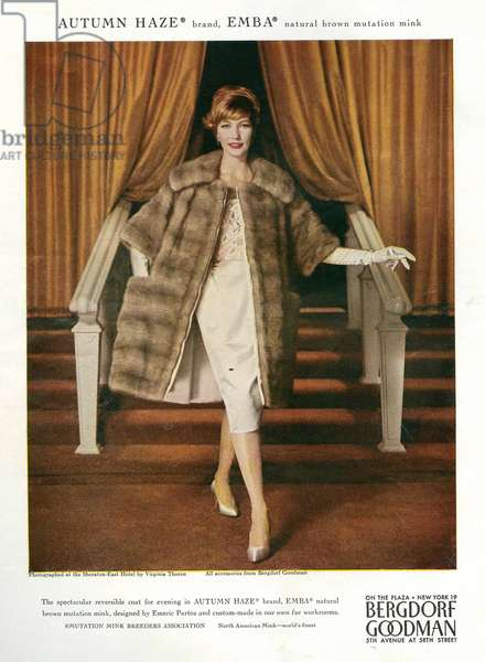 Bergdorf Goodman Magazine Advert, 1950s (colour litho)