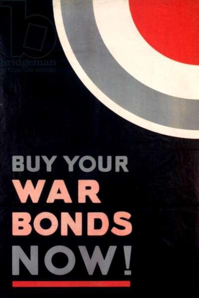 War Bonds Poster, 1918 (colour litho)