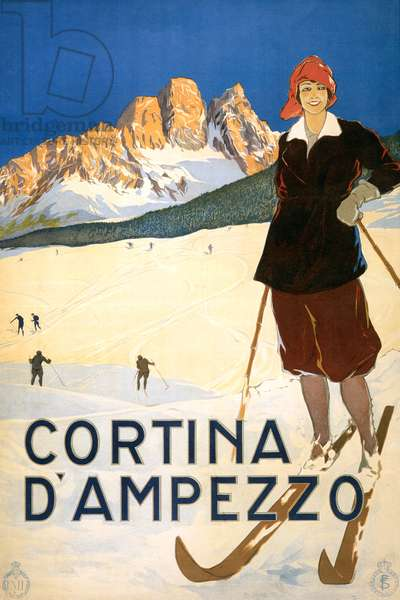 Cortina D'Ampezzo Poster (colour litho)