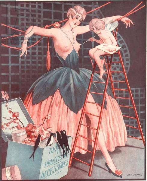 Illustration from 'Le Sourire' (colour litho)