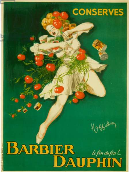 Barbier Dauphin poster, 1948 (colour litho)