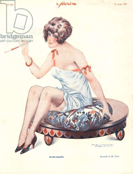 Illustration from 'Le Sourire', August 1929 (colour litho)