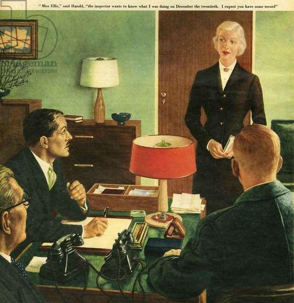 Illustration from 'John Bull', 1957 (colour litho)